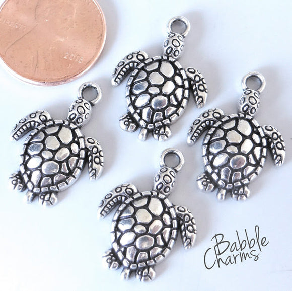 12 pc Turtle charm, turtle, sea turtle, Charms, wholesale charm, charm