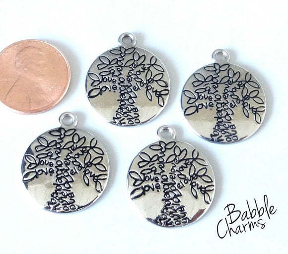 Family Tree charm, Tree charms. Alloy charm ,very high quality.Perfect for jewery making and other DIY projects