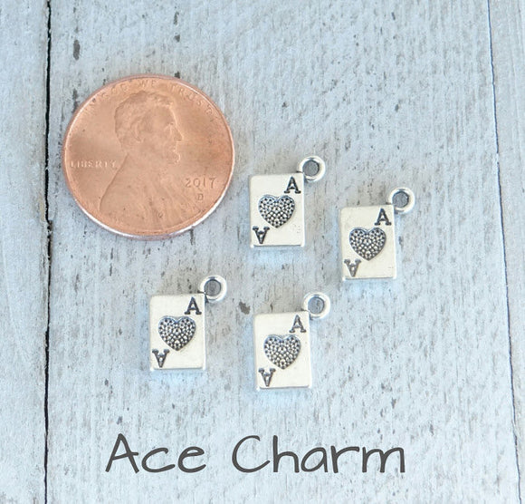 12 pc Card charm, playing card charm, ace charm, charms, Alloy charm,very high quality.Perfect for jewery making and other DIY projects