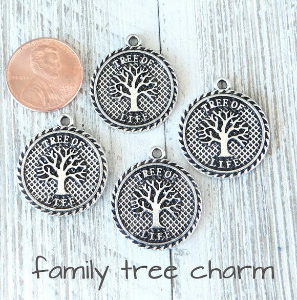 12 pc Family tree charm, tree, Tree charms. Alloy charm ,very high quality.Perfect for jewery making and other DIY projects