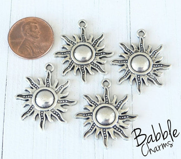 12 pc Sun, sun charm. Alloy charm ,very high quality.Perfect for jewery making and other DIY projects