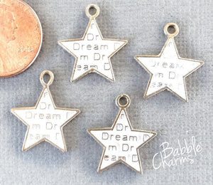 12 pc Star, star charm, star charms, enamel charm. Alloy charm ,very high quality.Perfect for jewery making and other DIY projects