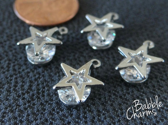 12 pc Star, star charm, star charms. Alloy charm ,very high quality.Perfect for jewery making and other DIY projects