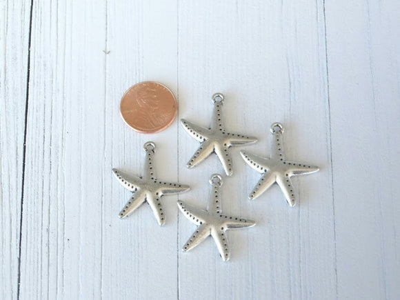 12 pc Starfish charm, sea star charm, charm, starfish, sea star, Alloy charm ,high quality.Perfect for jewery making and other DIY projects