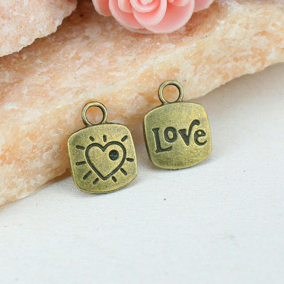12 pc Heart charm, heart charm, heart , love charm. Alloy charm, very high quality.Perfect for jewery making and other DIY projects
