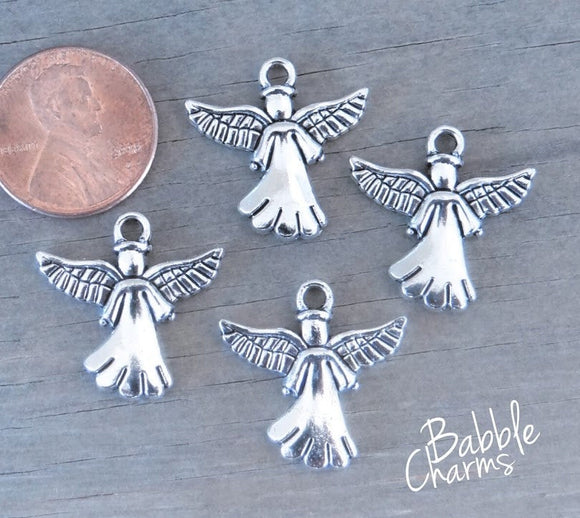 12 pc Angel, Angel charm, alloy charm, charm, charms