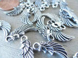 12 pc Angel wing, mini angel wing, Angel charm, alloy charm, charm, charms