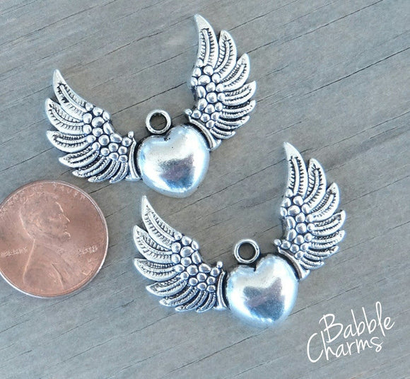 2 pc Angel, Angel charm, alloy charm, charm, charms
