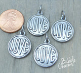 Love charm, Love, stainless steel charm 20mm very high quality..Perfect for jewery making and other DIY projects