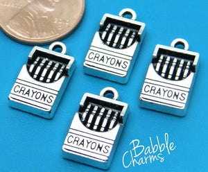 12 pc Crayon charm, crayons charm, teaching, crayon. Alloy charm, very high quality.Perfect for jewery making and other DIY projects