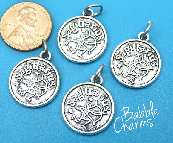 Sagitarius charm, astrological sign charm, zodiac, alloy charm 20mm very high quality..Perfect for jewery making and other DIY projects