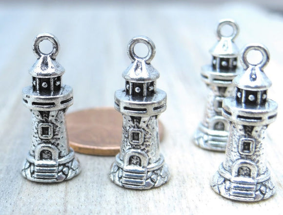 12 pc Lighthouse charm, lighthouse, light house, Charms, wholesale charm, alloy charm