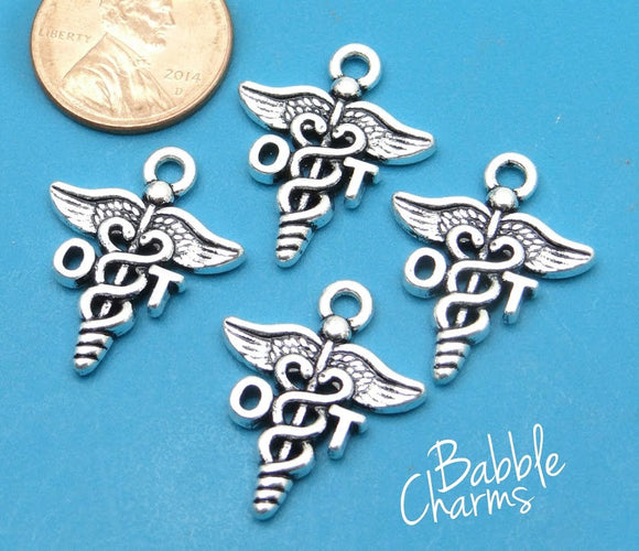 12 pc OT charm, Occupational Therapy, OT, therapy Charms, wholesale charm, alloy charm