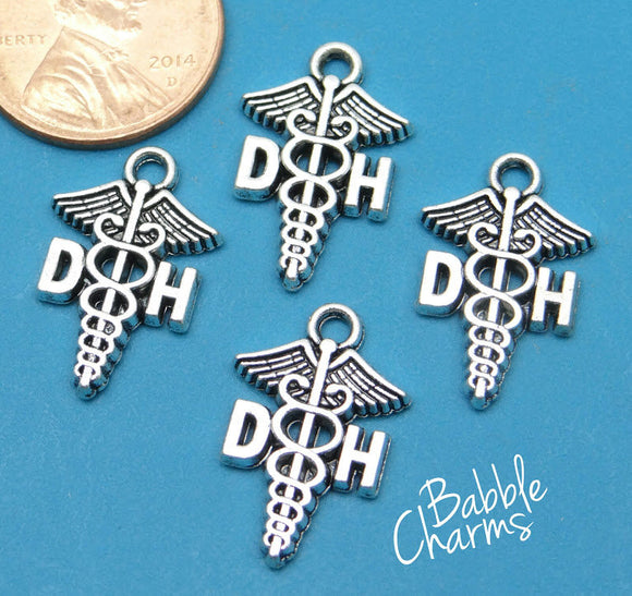 12 pc DH charm, Dental Hygenist, DH, Charms, wholesale charm, alloy charm