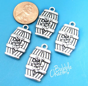 12 pc Barrel charm, wine barrel, charm, wine charm, wine barrel, Alloy charm ,high quality.Perfect for jewery making and other DIY projects