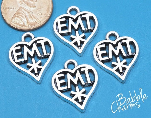 12 pc EMT charm, EMT, Emergengy Mecidal Technician, EMT Charms, wholesale charm, alloy charm