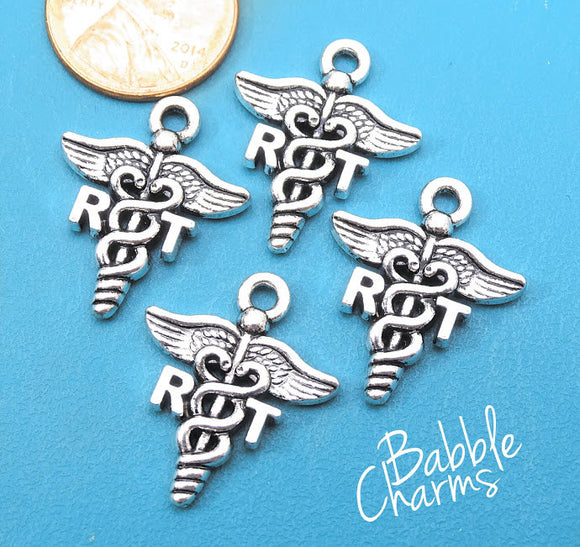 12 pc RT charm, Respiratory Therapy, RT, therapy Charms, wholesale charm, alloy charm