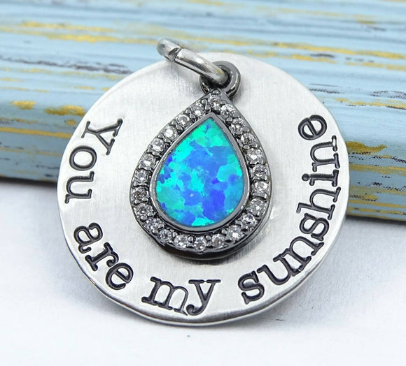 You are my Sunshine, you are my sunshine, sunshine, alloy charm 20mm very high quality..Perfect for jewery making and other DIY projects