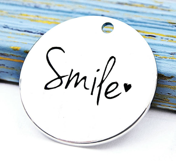 Smile, smile charm, Alloy charm 20mm high quality.Perfect for jewery making & other DIY projects #112