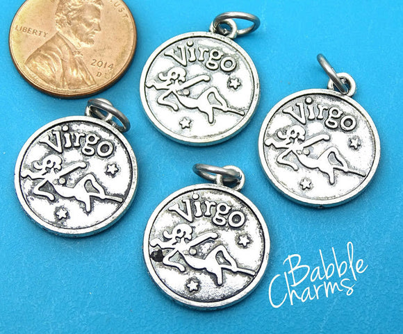 Virgo charm, astrological sign charm, zodiac, alloy charm 20mm very high quality..Perfect for jewery making and other DIY projects