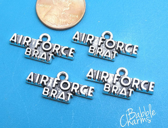 12 pc Air Force brat charm, air force, military mom charm. Alloy charm, very high quality.Perfect for jewery making and other DIY projects