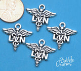 12 pc LVN charm, nursing, LVN, Charms, wholesale charm, alloy charm