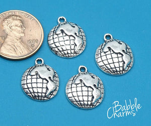 12 pc Globe charm, globe charms. Alloy charm, very high quality.Perfect for jewery making and other DIY projects