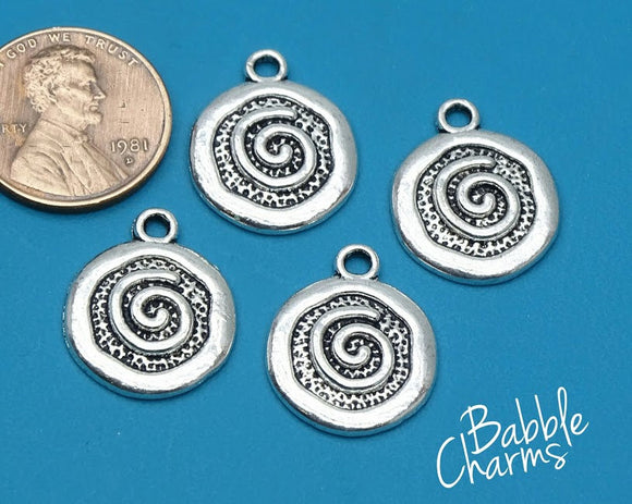 12 pc spiral charm, spiral, life charm, Charms, wholesale charm, alloy charm