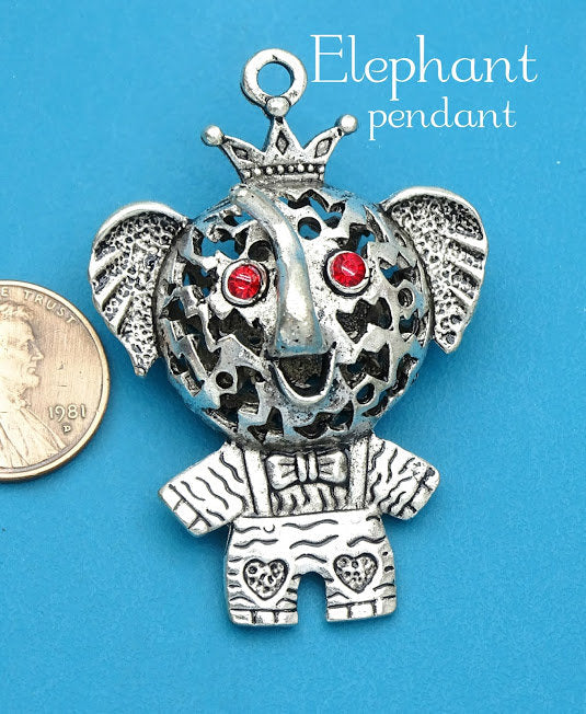 Elephant Pendant, Elephant , charm, 3D Elephant charm, pendant, Alloy charm ,high quality.Perfect for jewery making and other DIY projects