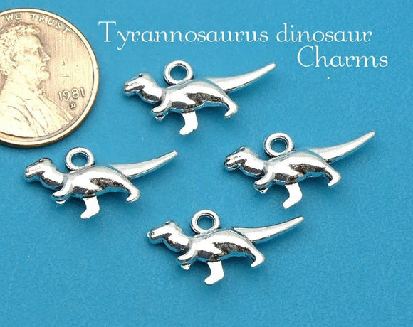 12 pc Dinosaur charm, T-rex charm, T-rex, dinosaur, Charm, Charms, wholesale charm, alloy charm