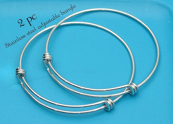 Stainless steel adjustable bracelet 55mm very high quality..Perfect for jewery making and other DIY projects