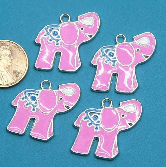 6 pc Elephant, Elephant charm, Elephant charms. Alloy charm ,very high quality.Perfect for jewery making and other DIY projects