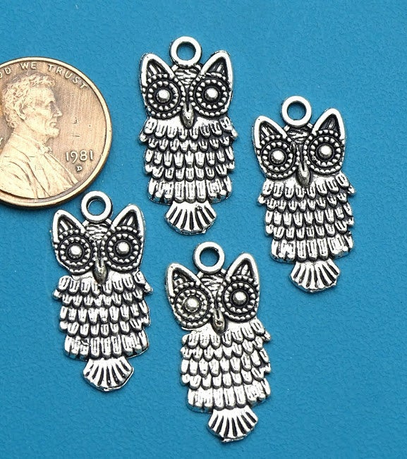 12 pc Owl charm, Owl, Owl face, Charms, wholesale charm, charm