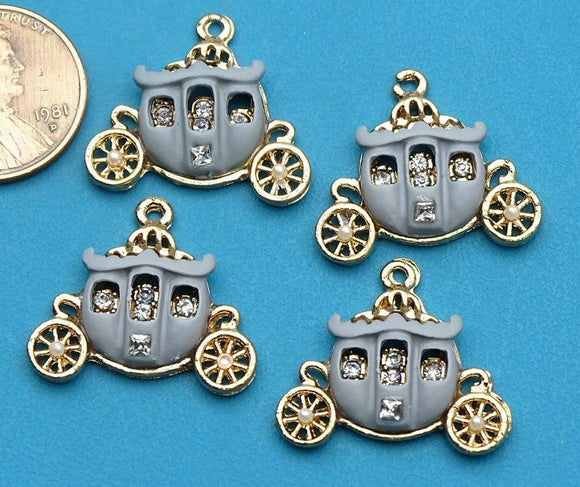 12 pc Carriage charm, Carriage Charms, carriage, Charms, wholesale charm, alloy charm