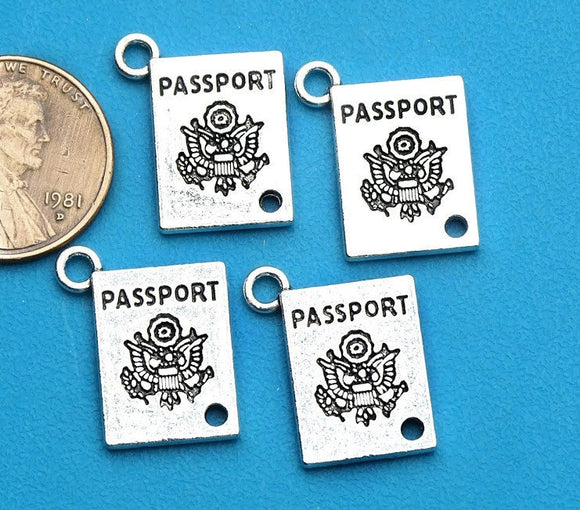 12 pc Passport, passport charm, travel charm, travel charms. Alloy charm ,very high quality.Perfect for jewery making and other DIY projects