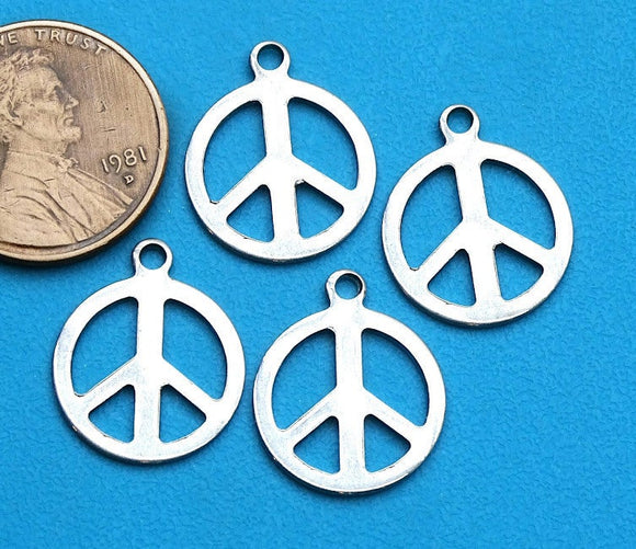 12 pc Peace charm, peace sign, peace and love, peace charms. Alloy charm ,very high quality.Perfect for jewery making and other DIY projects