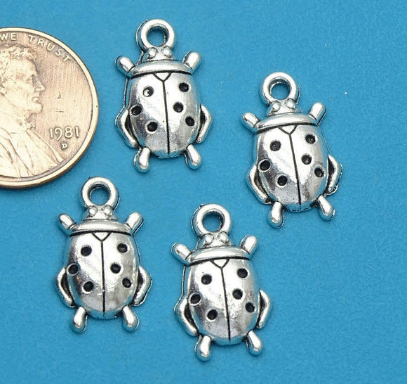 12 pc Ladybug charm, ladybug, charm, bug charm, ladybugs, Alloy charm ,high quality.Perfect for jewery making and other DIY projects