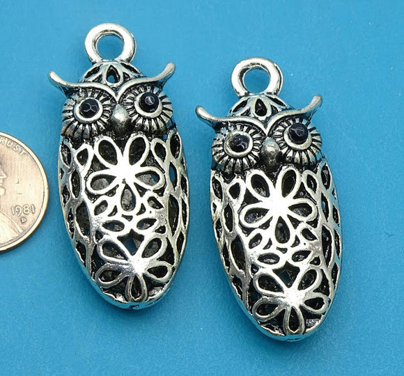 2 pc Owl charm, Owl, Owl face, Charms, wholesale charm, charm