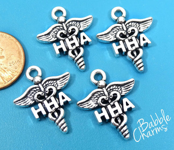 12 pc HHA charm, HHA, Home Health Aide, HHA Charms, wholesale charm, alloy charm