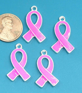 12 pc Cancer ribbon, enamel, cancer charm. Alloy charm ,very high quality.Perfect for jewery making and other DIY projects