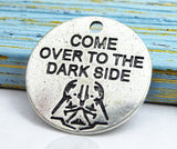 Dark side charm, Come over to the dark side, force charm, Alloy charm 20mm high quality. Perfect for jewery making and other DIY projects