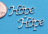6 pc Hope charm, Hope, Hope charms, Charms, wholesale charm, alloy charm