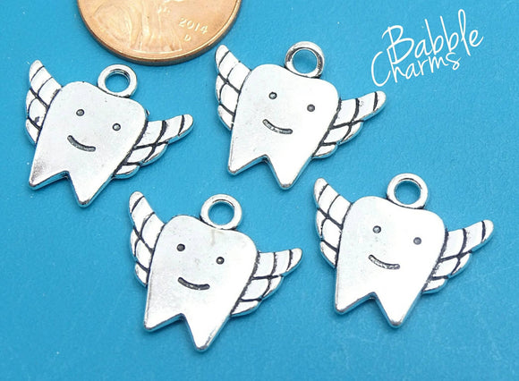 12 pc Tooth charm , tooth, dental charm, Charms, wholesale charm, alloy charm