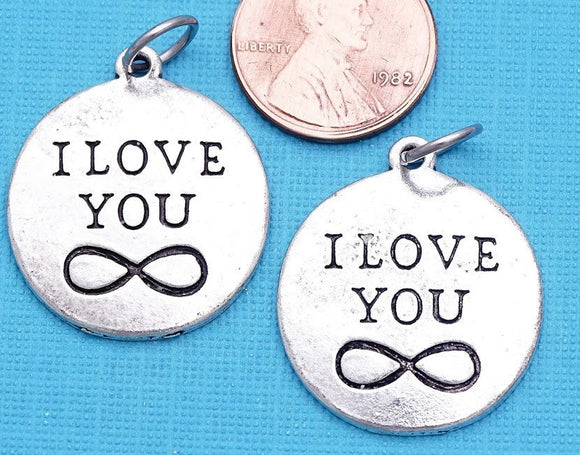 I love you charm, infinity, infinity charms, Charms, wholesale charm, alloy charm