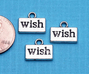 12 pc WIsh charm, wish, wish charms, Charms, wholesale charm, alloy charm