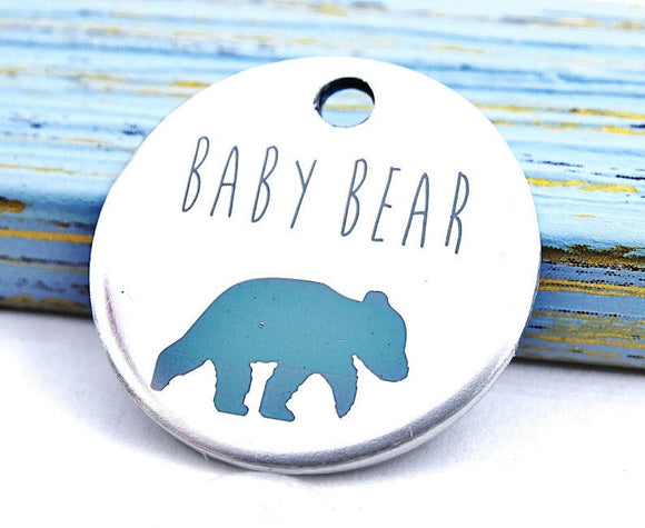 Baby bear, bear charm, steel charm 20mm very high quality..Perfect for jewery making and other DIY projects #28