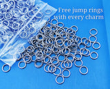 Maybe swearing helps, swearing, swearing charm, Steel charm 20mm very high quality..Perfect for DIY projects