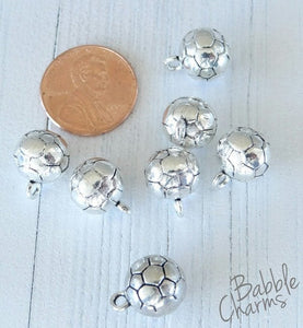 12 pc Soccer ball charm, soccer ball, sports charm, Charms, wholesale charm, alloy charm