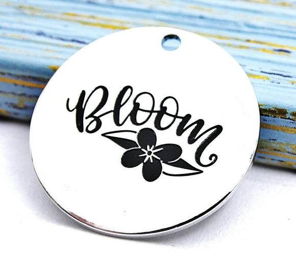 Bloom charm, bloom, flower charm, Alloy charm 20mm high quality.Perfect for jewery making & other DIY projects #200