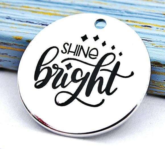 Shine bright charm, shine, shine charm, Alloy charm 20mm high quality.Perfect for jewery making & other DIY projects #199
